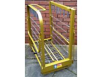 folding bed frame, Zed Bed, strong sturdy steel frame, with headboard. In good condition