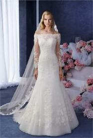 Ronald Joyce Wedding Dress Eugenia 69066 Size 10-12