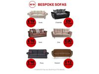 Bespoke sofa, corners and sofa beds finance available