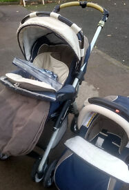 Jane Travel system in Blue/Grey/Cream with Car Seat REDUCED
