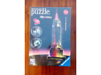 Empire State Building 3D Puzzle with Lights