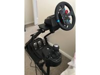 Logitech g29 steering wheel for ps4 (includes pedals and shifter) and stand