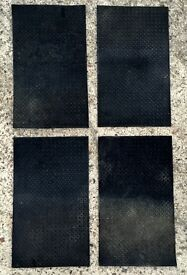 Rubber Car Mats (Front & Rear) - Fits All Vehicles - Perfect For Wet Weather Keep Your Carpet Clean