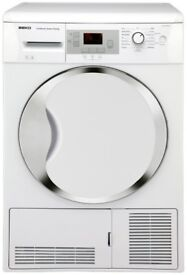 Beko DCU9330W Sensor Driven 9kg Freestanding Condenser Tumble Dryer White