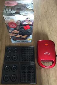 The 3 in 1 Treat Maker Doughnuts, Cake pops and Waffles maker