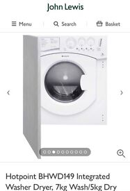 BRAND NEW Hotpoint BHWD149 Washer Dryer, 7kg Wash/5kg Dry Load, B Energy Rating, 1400rpm Spin