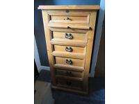 Substantial pine 6 Drawer Chest