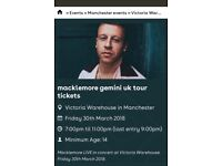 Macklemore tickets x2
