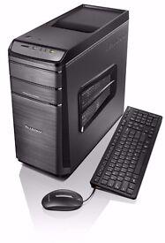 LENOVO K450e Gaming PC + Black Gloss Office Desk