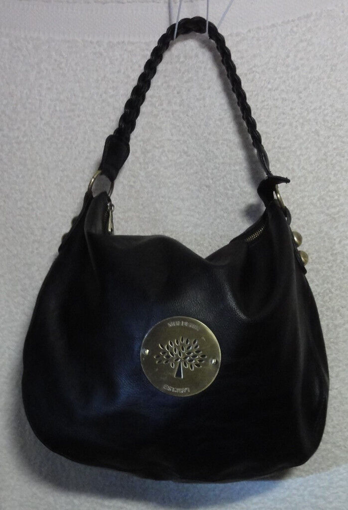 Lovely Mulberry Daria Hobo Shoulder Bag Handbag Large Black Leather used by  Cheryl Cole 653491890d28a