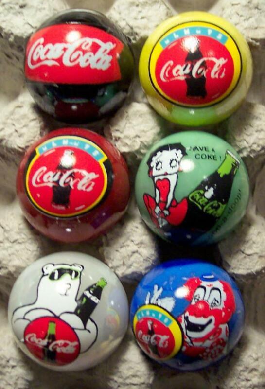 Nice 6 Coca Cola Marbles