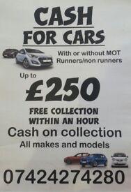 Scrap cars/MOT failure/free collection/cash/Nottingham