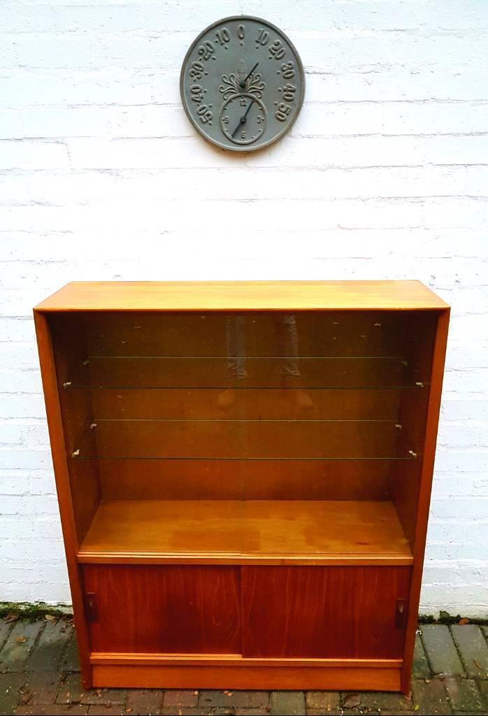Retro Teak Herbert E Gibbs Autograph Display Cabinet/Bookcase/Sideboard/Cupboard - G Plan/McIntosh