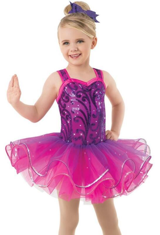 Dance Costume Medium Child Purple Ballet Sequin Tutu Solo Competition Pageant