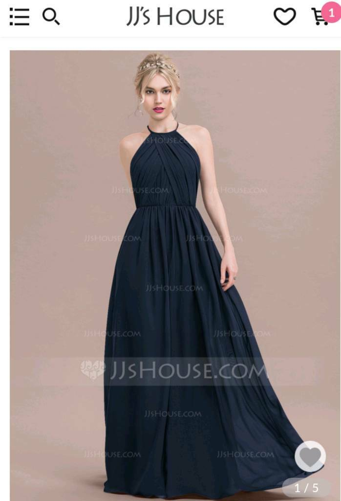 a0e1e851b7de Bridesmaid dress navy 12/14 JJshouse never worn | in Dunfermline ...