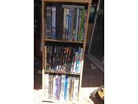 MDF wood effect spinning dvd cabinet