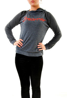 Sundry Women's Dreamer Pullover Striped Hoodie Black Size US 1 RRP £149 BCF611