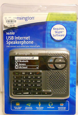 Kensington USB Internet Speakerphone Skype Vo300 NEW !