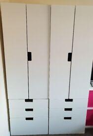 Ikea stuva wardrobe and shelfs