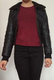 back designer Tom Wolfe leather jacket