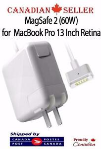 60W T Type Magsafe2 Power Adapter For Macbook pro Retina 13 A1435 A1465 A1425 A1502 (2012 & LATER MODEL) - ONLY $34.99