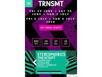 2 Trnsmt festival fri,29th-sat,30th-sun,1st. plus HOTEL