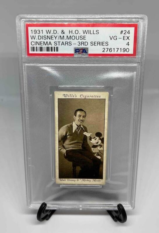 RARE 1931 W.D. & H.O. Wills Walt Disney and Mickey Mouse   PSA VG-EX 4