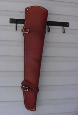 Oiled Roughout Leather Rifle Gun Scabbard Case Holster Western Saddle (Leather Gun Scabbard)