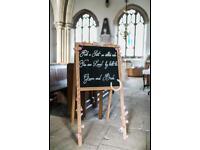 Wedding sign chalkboard