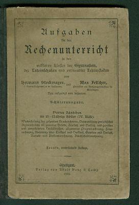 chenunterricht 1903 Schule Rechnen Währungen Dreisatz Rabatt (Schule Rabatt)