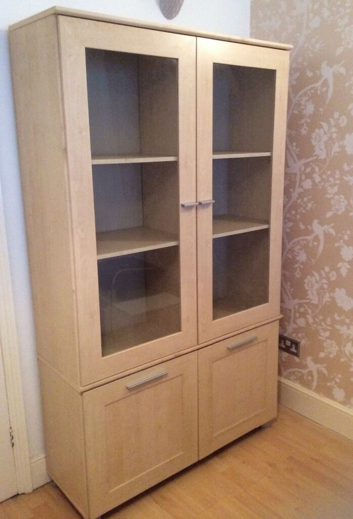 Tall Display Cabinet With Top Glass Doors With Bottom