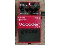 Boss VO-1 Vocoder pedal, NEARLY NEW, in pristine condition