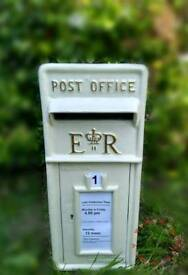 Wedding Post Box - Ivory and Gold