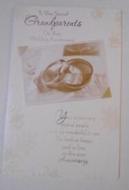 Grandparents Wedding Anniversary Cards - Large