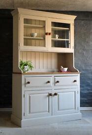 Solid Pine Glazed Farmhouse Welsh Dresser