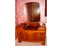 RETRO FURNITURE BY H LEBUS DRESSING TABLE AND CHEST OF DRAWERS