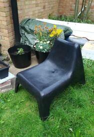 Garden chair black plastic IKEA