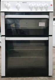 BEKO DOUBLE OVEN 60CMM COOKER **FREE LOCAL DELIVERY 3 MONTHS GUARANTEE**