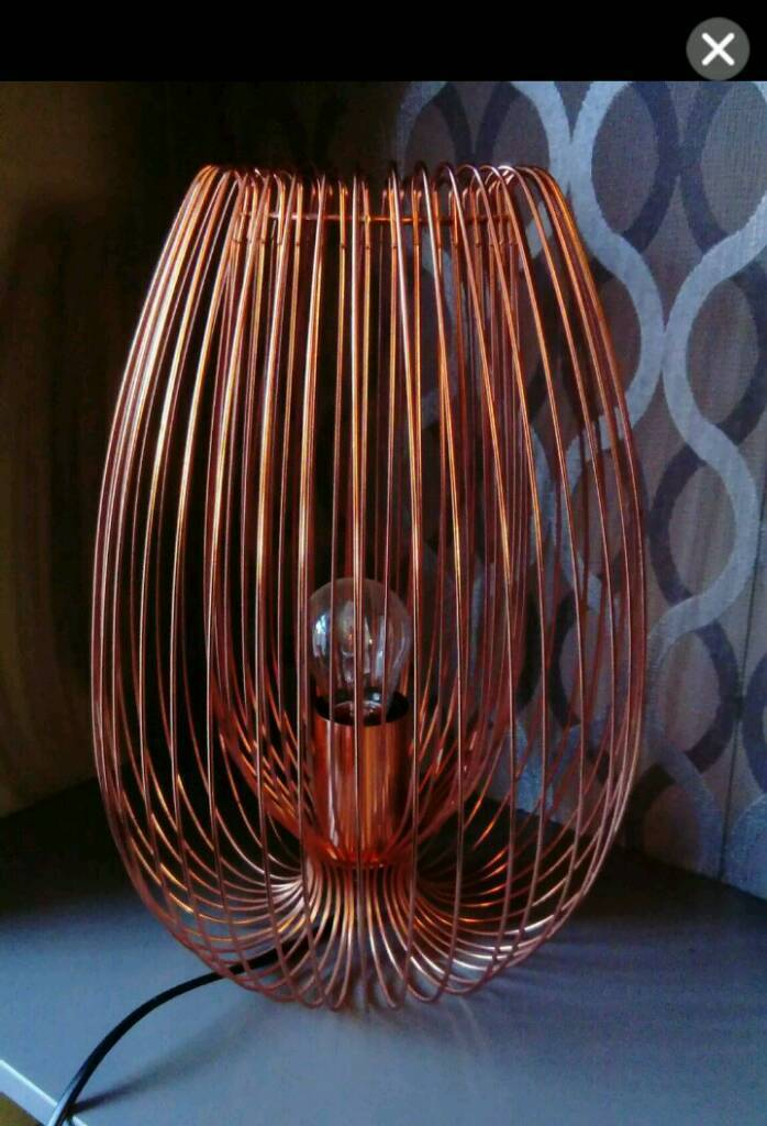 Jonas copper wire table lamp in armley west yorkshire gumtree jonas copper wire table lamp greentooth Choice Image