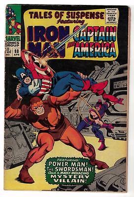 Marvel Comics  TALES OF SUSPENSE  #88 VG- 3.5  Captain america