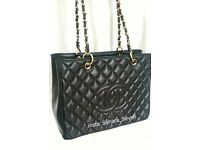 Ladies Shopper Handbag £45 Bag Black Chanel Flap