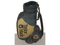 Large Taylormade golf bag Tour bag cart bag with strap & rain hood VGC