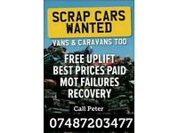 CARS / VANS / TRUCKS / CARAVANS WANTED CASH PAID