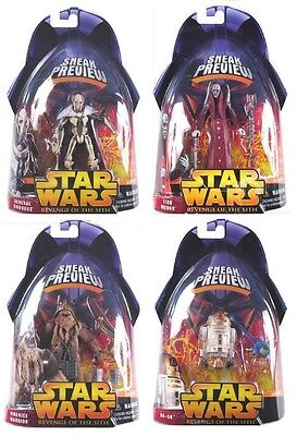 Star Wars Rots Revenge Of The Sith Sneak Preview Set Of 4 Grievous R4-g9 Tion