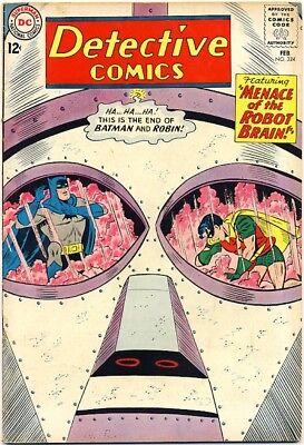 DETECTIVE COMICS #324 1964 FN+ Batman & Robin ROBOT COVER
