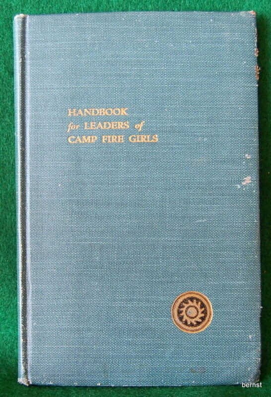 1924 CAMPFIRE GIRL HANDBOOK FOR LEADERS - NOT SCOUT