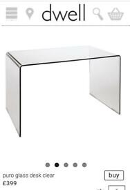 Dwell large clear Glass Table