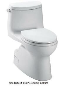 Toto One Piece Elongated Toilets UltraMax II $499 Toto Carlyle II $629 Toto Aquia $699 Toto Aimes $899 Carolina II $849