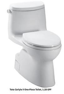Toto One Piece Elongated Toilets UltraMax II $499 Toto Carlyle II $629 Toto Aquia $699 Toto Aimes $899 Carolina II $849