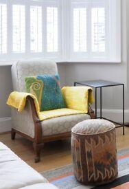 Vintage Streit Slumber Arm Chair (1920's recliner antique chair)